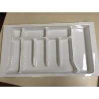 Porta Talheres-9Divisões 10195,07BRW-Branco Med:68(57)x44(34)cm