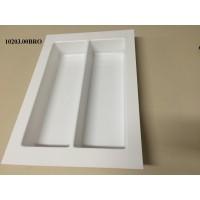 Porta Conchas-2Divisões 10203.00BRO-Branco Med:29(24,5)x42(35,5)