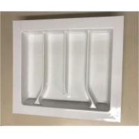 PORTA/Conchas-4Divisões 10168.07BRW-Branco 46(39,5)x42(34)cm