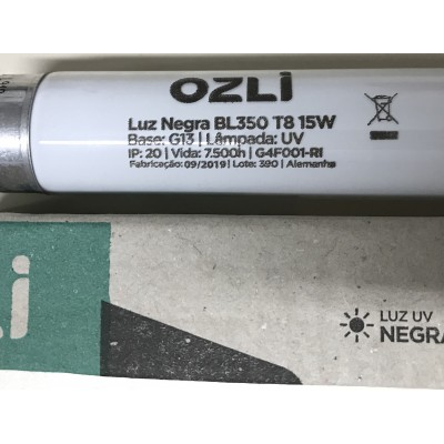 Lâmpada Fluorescente Black-Light 40140,00BRO . Branca 15Watts